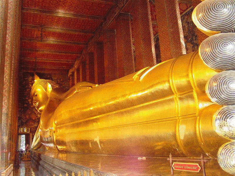 Le Wat Pho, temple du Bouddha couché à Bangkok