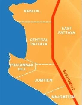Quartiers de Pattaya