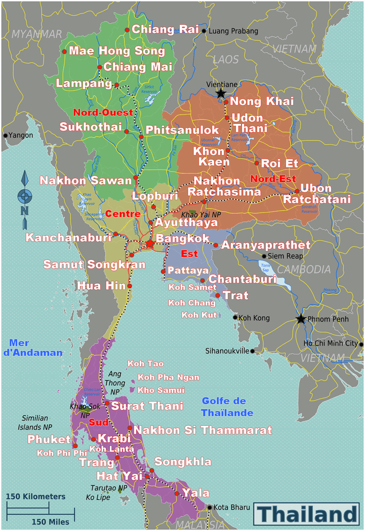 Carte Thailande Sud Ouest.Forum Thailande
