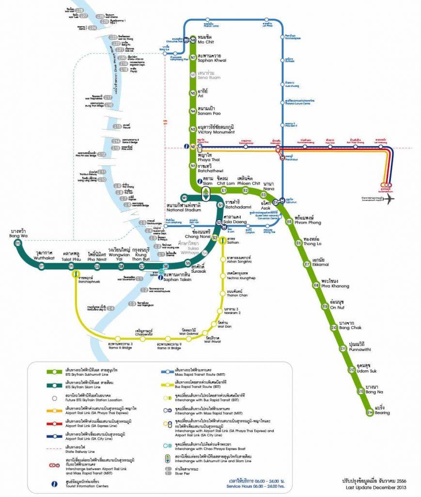 Carte des métros de Bangkok