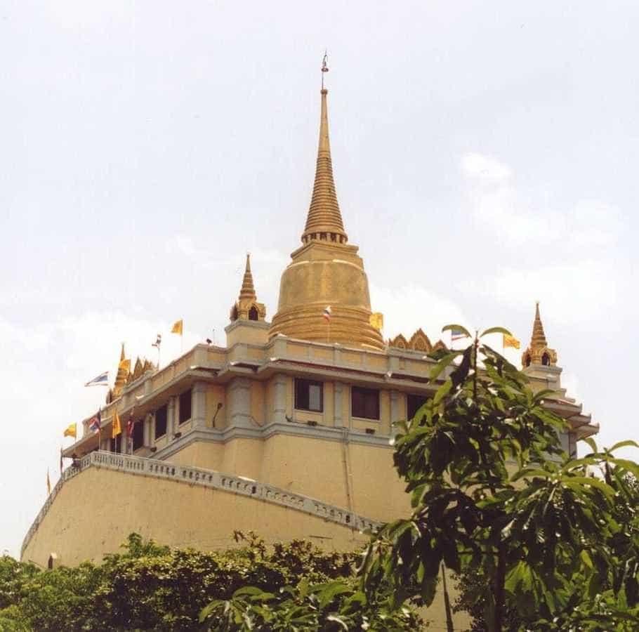 Wat Saket, le temple de la montagne d'or à Bangkok