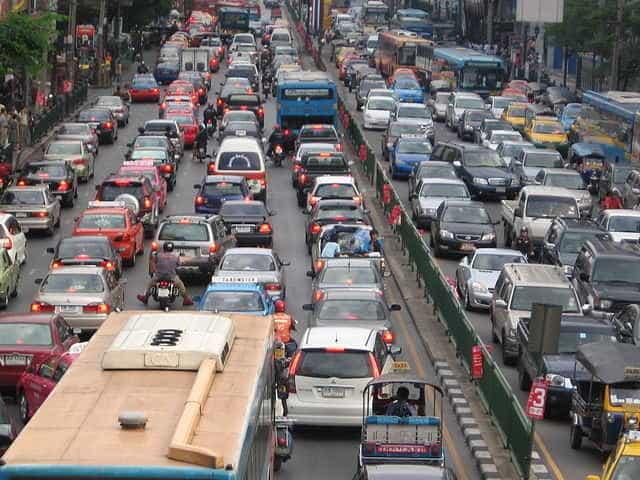 Les embouteillages à Bangkok