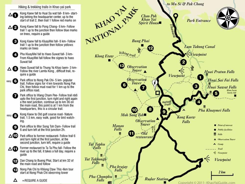 Carte Randonnee Thailande.Visiter Le Parc National De Khao Yai En Thailande Guide Complet