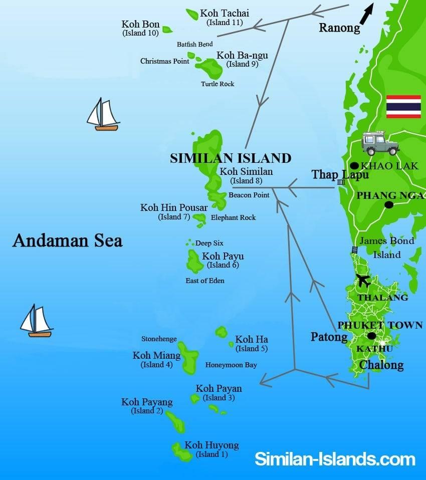 Carte Thailande Nord Ouest.Cartes Des Iles Similan Cartes De Thailande Tous Les Plans Des