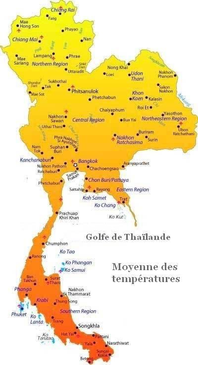 Carte Thailande Climat.Meteo En Thailande Climat Saisons Et Previsions Sur 6 Jours