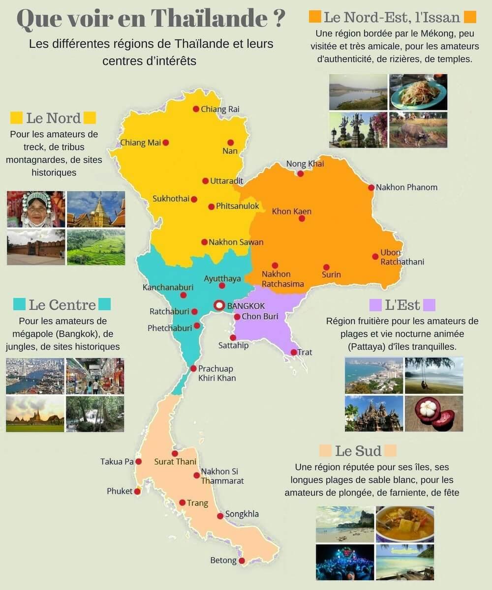 Carte Thailande Centre.Carte Thailande Plans Du Pays Des Provinces Et Des Villes